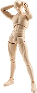 BANDAI S.H.Man Figuarts Body-kun Action Figure Set, 5.9 Inch (Pale Orange Color)