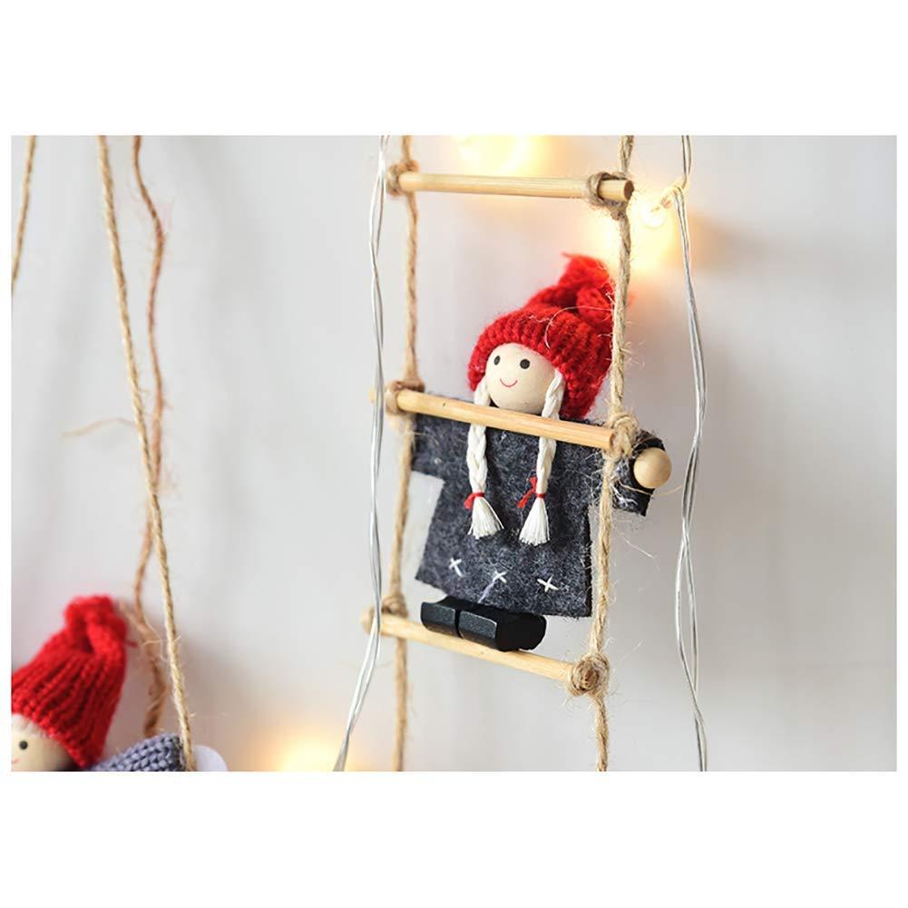 Newin Star 1 Pieza de árbol de Navidad Adorno Escalera Soporte Swing Muñeca Árbol Colgante Etiquetas Decoración Fiesta de Vacaciones Decoración (ala: Amazon.es: Hogar
