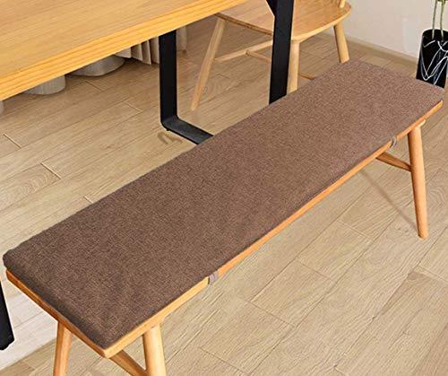 DanChen Cojín de banco antideslizante con lazo, cojín de jardín de 2 o 3 plazas para muebles de palé, interior y exterior, asiento de palé, cojín de repuesto de colchón, 120 x 35 cm, color marrón