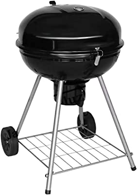 SN Smoker Charcoal Barbecue Grill, with Wheels and Heat Indicator Portable Garden Outdoor Kettle BBQ Grill