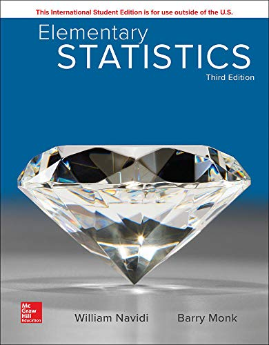 Compare Textbook Prices for Elementary Statistics Monk, Barry 3 Edition ISBN 9781260092561 by Navidi,William,Monk,Barry