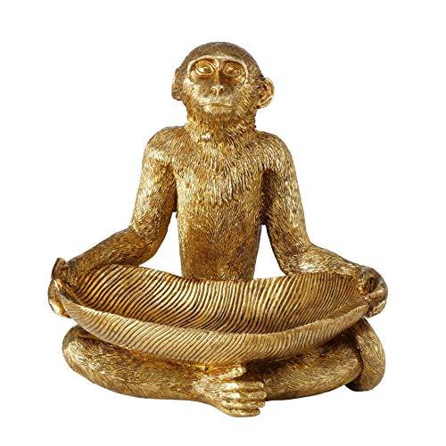 CasaJame AFFE - Asiento para sastre de yoga (resina, 33 x 32 x 22 cm), color dorado