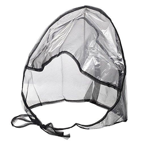 Premium Waterproof Rain Bonnet Hat with Full Cut Visor & Netting - Stay Dry Rain Protection for Men or Women - Black (Unisex)
