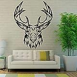 xinyouzhihi Design Rentier Wandmalereien Hirschkopf Wandtattoos Wasserdicht Wand Raumdekorkunst Vinyl Für Wohnzimmer Roo58 x 72 cm