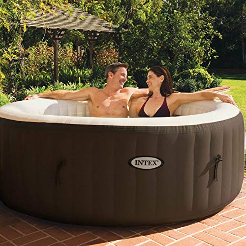 Intex PureSpa 4 Person Inflatable Spa Portable Hot Tub with Cupholder & Headrest
