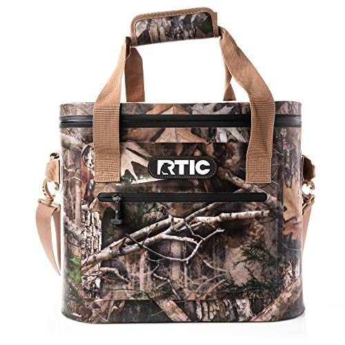 RTIC Soft Cooler 30, Camo, Insulated Bag, Leak Proof Zipper, Keeps Ice Cold for Days