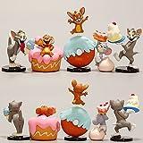 Dibujos animados Tom Jerry Dibujos animados Gato y ratón Mini Figura de acción Toy Cake Series Funny Toys Regalo de graduación