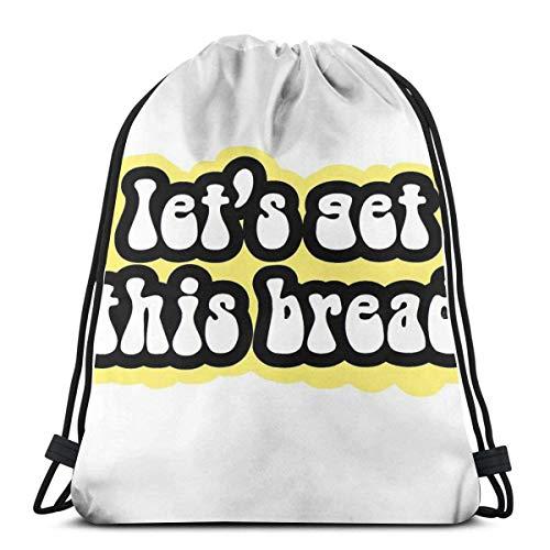 Letâ€S Get This Bread - Bolsa de viaje con cordón amaril