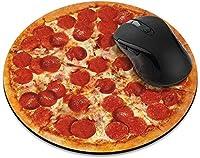 滑り止めの丸いマウスパッド たっての熱 ホームオフィスとゲームデスク用のレッドオレンジマンダラマウスパッド-PepperoniPizza