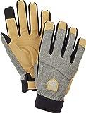 Hestra Infinium BC Breathable Protective Full Finger Bike Glove for Men/Women | 5-Finger Shock Absorbing Windproof Glove for Mountain Biking, Downhill Biking, and Cold Weather Biking - Light Grey - 9