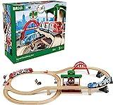BRIO 33512 Set Ferrovia con Scambio, BRIO World Ferrovie, Giochi per Bambini, Età Raccomandata 3+ Anni, Compatibile con Tutti i Prodotti BRIO
