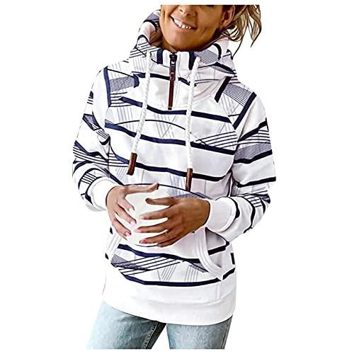 Berimaterry mujer sudaderas con capucha moda ropa mujer baratos casual top para mujer Jerséis mujer otoño invierno chándal mujer camisetas manga larga chaquetas hoodies con rayas moda jersey