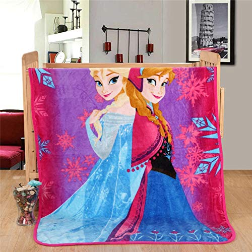 fgbv Frozen Elsa Anna Princess,Manta Rayo Mcqueen Cars Franela De Felpa Arroja En La Cama Sofá Plano Sábana Plana Cubiertas De Cama 70X100Cm