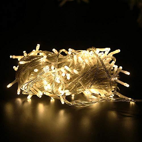 Led guirlande lumineuse 8 Mode rideau guirlande de noël lumières LED scintillement étanche guirlande lumineuse fête jardin maison mariage décor-Blanc chaud_1000 LED 100M