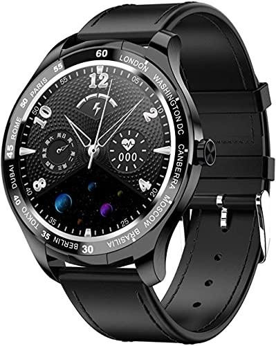 DHTOMC Reloj inteligente de las señoras de 1.3 pulgadas impermeable reloj multideporte modo detector de sueño-negro b