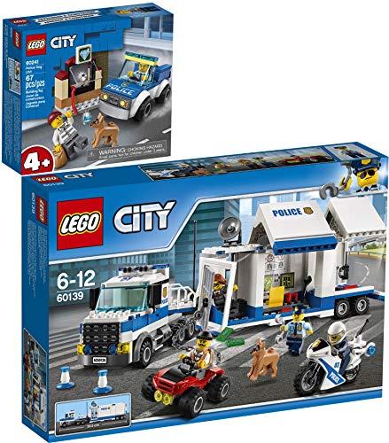 Bundle Lego City 60139 60241 - Central de uso móvil + estadio de perro policía