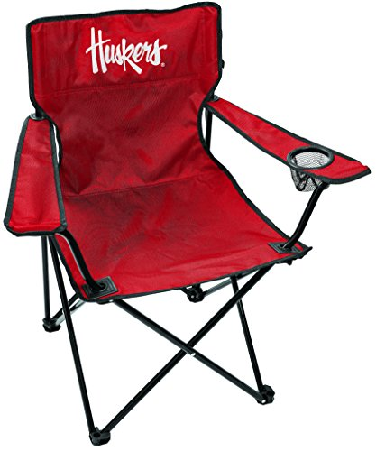 Rawlings NCAA Gameday Elite Lightweight Folding Tailgating Chair, with Carrying Case, Nebraska Cornhuskers