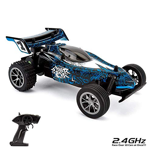 CMJ RC Cars 116HSRB Blue Remote Zoom Buggy 1:16 Electric Radio Controlled...