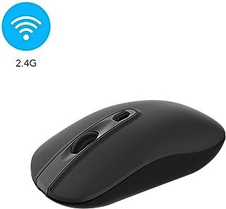 Wireless Computer Mouse, Cimetech 2.4G Slim Cordless Mouse Less Noise for Laptop Ergonomic Optical with Nano Receiver USB ...