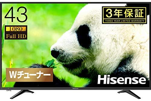 『ハイセンス Hisense 43V型 液晶 テレビ 43A50 フルハイビジョン 外付けHDD裏番組録画対応 メーカー3年保証 2018年モデル』の1枚目の画像