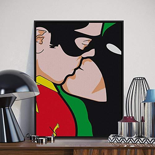 BBSJX Gay Love Modern Pop Movie Art Print Poster, Cuadro Abstracto de la Pared Pintura de la Lona 50X70 Sin Marco Bar Decoración para el hogar