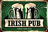 Cartel de metal (20 x 30 cm), diseño de cerveza irlandesa