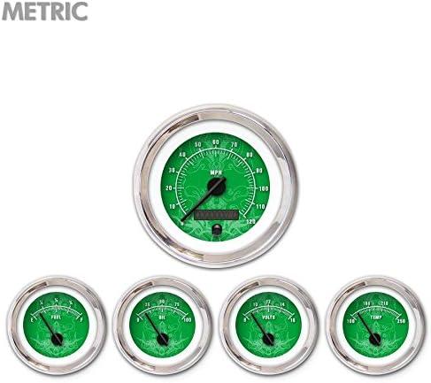 Aurora Instruments Max 74% OFF 5409 Tribal Green M 100% quality warranty Metric Black Set 5-Gauge