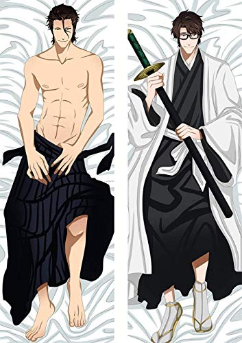 ZHTX Bleach Aizen Sousuke Double-Sided Print Pillow Covers Anime Cushion Cover Case Zippered Square Pillowcase 2Way Tricot 100 x 34cm(39 37in x 13 38in)