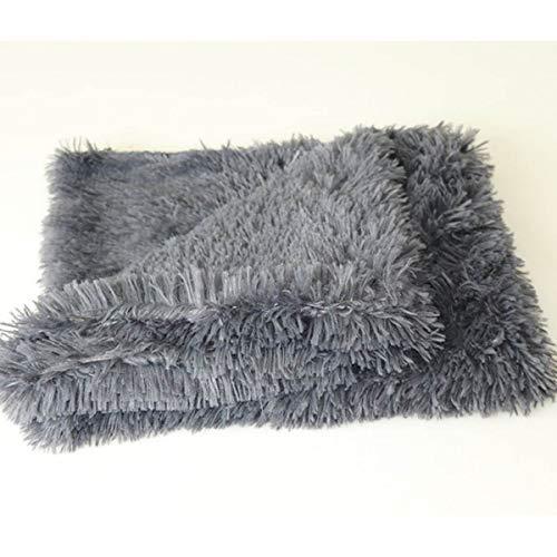 WHEEJE Fluffy Largo Peluche Mantas Mantas Dog Cat Mopas de Cama Cubiertas Delgadas Suaves para el Verano para el Verano Cama de Invierno Use Mantas Colchón de Gato Suave
