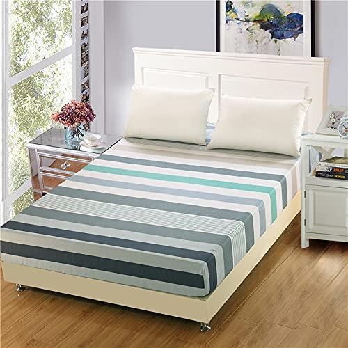 NTtie Funda de colchón Anti chinches, Transpirable, Sábana de algodón de un Solo Producto Multicolor Opcional