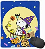 vbndfghjd 1846 Mauspad Happy Halloween Snoopy Moon Computer Mauspad (7.1x8.7IN, 18x22CM)