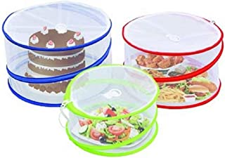 Outdoorwares 3 Pop Up Food Cover Protectors Set   Fine Mesh Screen, Bottomless & Collapsible Design With Handles   Keep Bugs, Insects & Flies Away   For Picnics, Outdoor Fiestas, BBQ, Camping & More