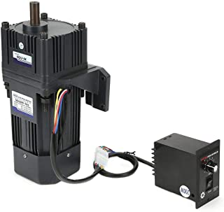 KEKEYANG Reducción de Motor de Ajuste de Velocidad del Motor, CW/CCW Motor Reducción con Caja de Cambios gobernador CA 220V 200W M6200-502 (5K) Industrial