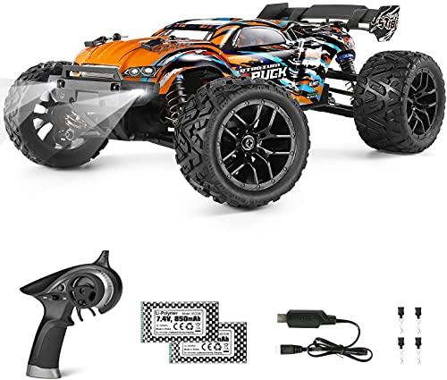 HAIBOXING Ferngesteuertes Auto 4WD RC Auto 1/18 36 km/h All Terrains Offroad Elektro Fahrzeug 2,4 GHz Offroad Monstertruck Buggy mit 2 wiederaufladbaren Batterien für Kinder und Erwachsene
