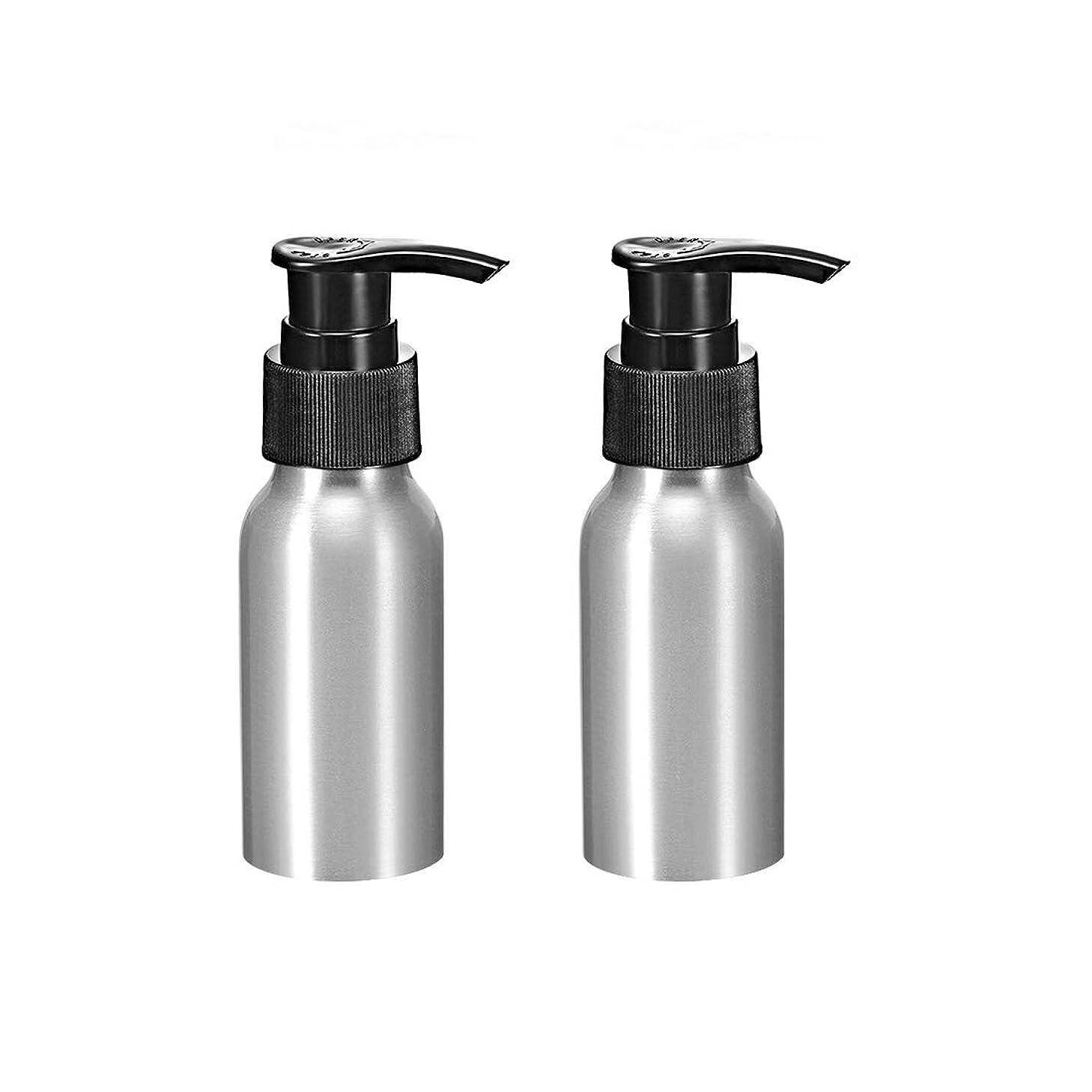 ホーン解明ガラガラuxcell uxcell アルミスプレーボトル ブラックファインミストスプレー付き 空の詰め替え式コンテナ トラベルボトル 1.7oz/50ml 2個入り