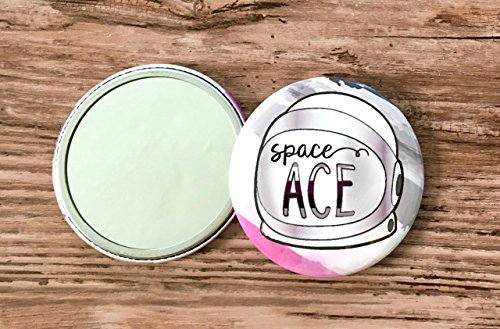 Space Ace Pocket Mirror - Asexual Pride