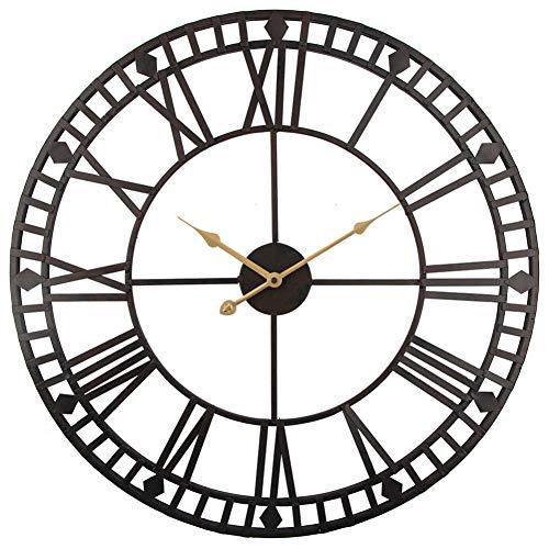 N/ A Vintage Wandklok 60cm Grote Klok Horloge Smeedmetaal Industriële IJzeren Klok Horloge