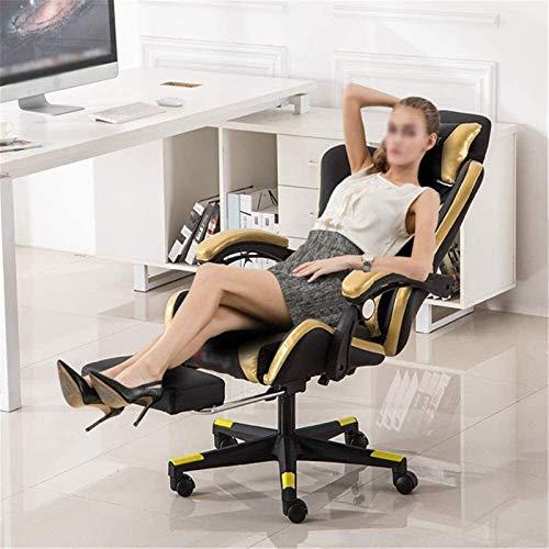 HAOSHUAI Sedie da Gioco Sedia da Gioco Desk per Ufficio Ergonomico Conference Executive Manager Sedia da Lavoro (Colore: Nero, Dimensione: 70x70x115cm) (Color : Black, Size : 70X70X115CM)