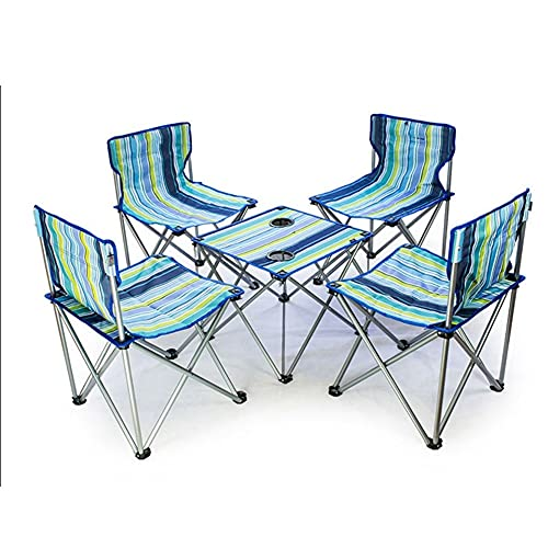 Mesa Plegable Portatil Mesa De Camping Plegable Oxford Aluminio Portátil Mesa Plegable Mesa De Picnic Camping Barbacoa Mesa Cuadrada Con Bolsa De Almacenamiento Escritorio Plegable ( Color : Blue×5 )