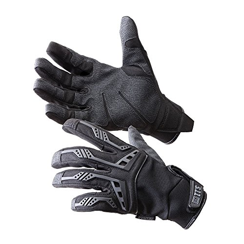 5.11 Tactical Men's Scene One Gloves, Synthetic Leather, Strengthened Palm, Velcro Closure, Black, 2XL, Style 59352