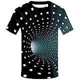 Fenverk T-Shirt Herren 3D Druck Rundhals Kurzarm Shirt Lässig Lustig T Shirt Sommer Top Weich...