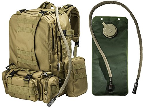 Tactical Military Molle Backpack Bundle by Monkey Paks