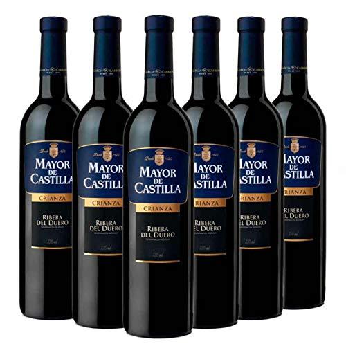 Mayor de Castilla Crianza - Vino Tinto D.O Ribera del Duero - Caja de 6 Botellas x 750 ml
