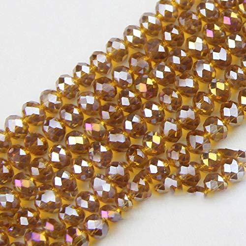 Ronde vorm luxe Oostenrijkse kristal kralen Hoge kwaliteit 6mm 50st losse kralen rondelles glazen bal armband Sieraden DIY