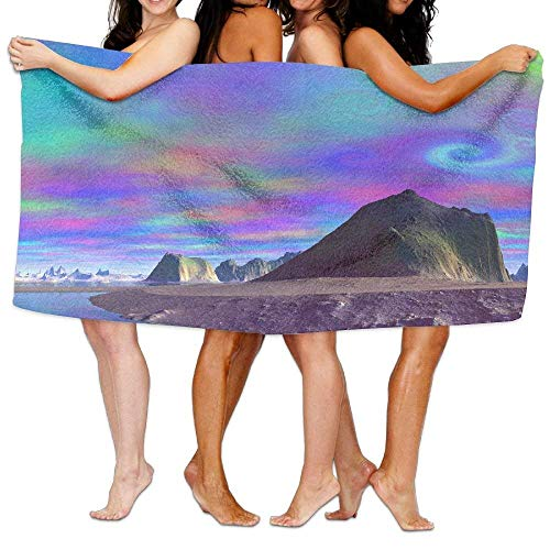xcvgcxcvasda Bath Towel Soft Big Beach Towel Soft Abstract Ink Colorful 31