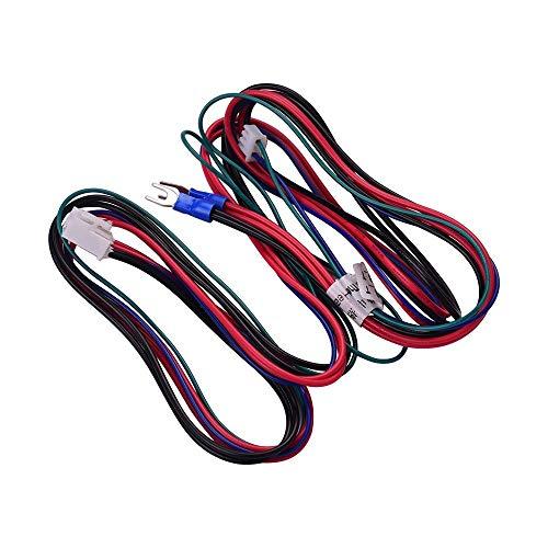 3d Impresora Accesorio, Anet 18 AWG Actualiza climatizada por cable Cama caliente Línea Heatbed, longitud del cable de 90 cm / 35,4 pulgadas de Anet Anet impresora A8 A6 A2 A3 E12 E10 3D Actualiza Pro