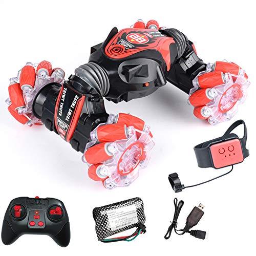 Lanceasy Coche teledirigido para acrobacias 4WD reloj gestenssensor control deformable coche eléctrico...
