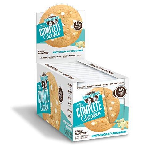 Lenny & Larry\'s Complete Cookie Proteinkeks Proteinriegel Eiweiß - White Choco Macadamia - Weiße Schokolade Macadamia Nuss 12x113 g