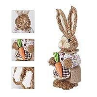イースターデコレーション1個繊細なイースターバニーオーナメントシミュレートされたウサギの装飾ホームガーデンラビット(色:スカイブルー)ホームデコレーション