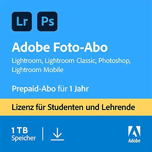Adobe Creative Cloud Foto-Abo mit 1 TB: Photoshop und Lightroom für Studenten und Lehrende I 1 Jahreslizenz I PC/Mac Online Code & Download